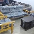 3+1+1 NID Wooden Handle Sofa