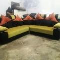 Corner sofa with Racronmaterial