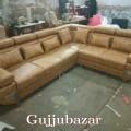 Heavy corner sofa with meachanical headrest