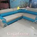 Corner sofa blue and grey colour