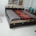 Queen size bed  brown