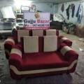 3+2 sofa set red and biege