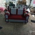 3+2 sofa set maroon and grey