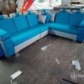 Puffy corner sofa