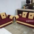 Sofa set 3+2 maroon and cream at Surat