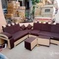 Corner sofa coffee and beige