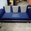 Blue and grey sofa set