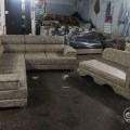 Corner sofa with lounger