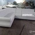 White L shape corner sofa