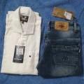Plain cotton shirt with pent