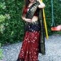 Elegantly Crafted Bandhani Print Art Silk Sarees