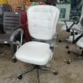 White revolving office chair