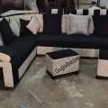 Puffy corner sofa with 2 puffy