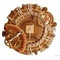 Wall antique mechanical clock