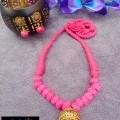 Cotton bead necklace