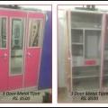 Latest 3 Door Metal Tijori with Glass