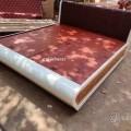 Cross Design Plywood Designer Bed 6/6