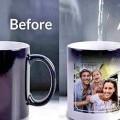 Customized printing on t-shirts, mug